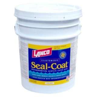 Lanco Seal Coat 5 Gallon Flat Acrylic Latex Ultra White Roof Paint
