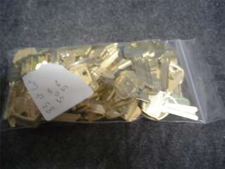 83 ct lot of sargent assa abloy lf and he key blanks