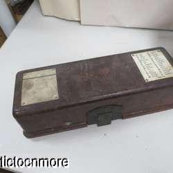 WWII GERMAN FIELD PHONE CRANK & BAKELITE CASE DATED 1937 & 1942