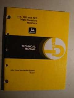 JOHN DEERE PRESSURE WASHER TECHNICAL MANUAL