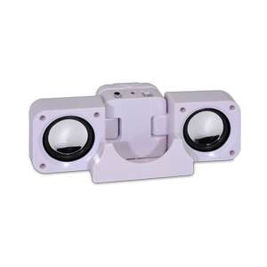 GoStereo Foldable Portable Speakers System   White