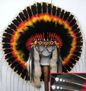 Native American Mystic Sunset War Bonnet Headdress