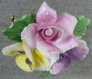 Vintage Pin~Nice Porcelain Flower~Royal Adderley