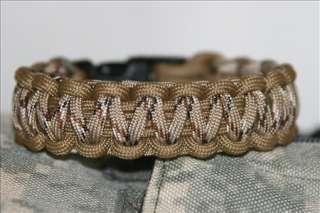 Paracord Survival Bracelet Desert Camo & Coyote Brown