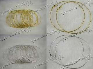 Wholesale Lots 50pairs silver Gold Big Circle Basketball Wives Hoop