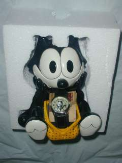 FELIX THE CAT Fossil Porcelain STATUE & Watch Limited Edition #827