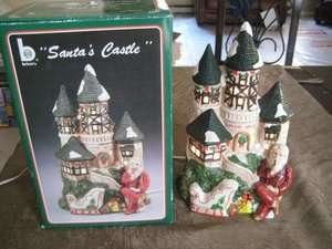 Vintage 1987 Village Collection Santas Castle Nite Light Night Light