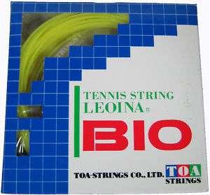 TOA LEOINA BIO TENNIS STRING (YELLOW) 16g