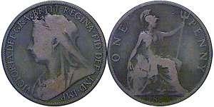 GREAT BRITAIN QUEEN VICTORIA PENNY 1898