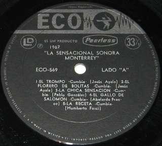 SONORA MONTERREY LA SENSACIONAL   EL TROMPO  MEXICAN LP