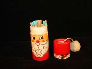 Antique Feb 1966 Capri Santa Claus Match Box Holder With Matches
