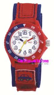 Tikkers Boys Velcro Fastening Kids Time teacher / tutor Watch