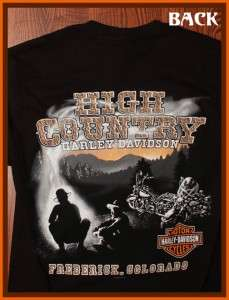Harley Davidson Motorcycles High Country Frederick, CO Logo Black