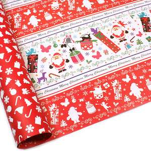 Santa Claus Christmas Double Sided Gift Wrapping Paper