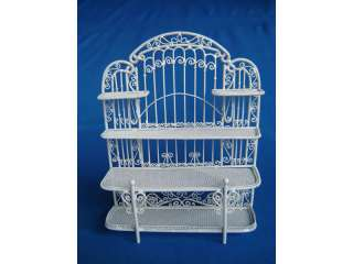 dollhouse miniature BAKERS RACK STAND WIRE WHITE NEW**