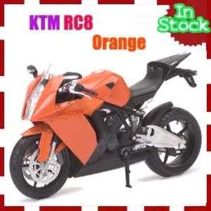 12 KTM RC8 Racing Motor Bike Motorcycle Model Diecast