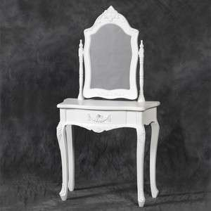 French White Dressing Table with Mirror