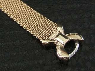 NOS Ladies Yellow Gold gf Mesh Vintage Watch Bracelet