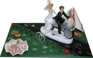 Geldgeschenke SILBER HOCHZEIT Brautpaar mit Fahrrad 25 Jahre  selten