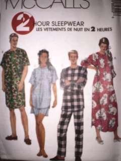 UNCUT McCalls Pattern Mens Misses Sleepwear Pajamas OOP