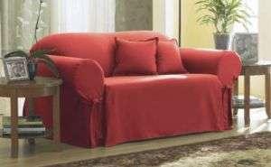 COTTON DUCK Claret 1pc Sofa Slipcover Box Cushion
