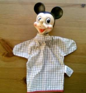 Old Walt Disney Productions Mickey Mouse Hand Puppet