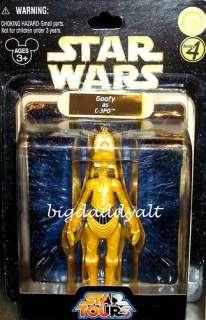 DISNEY STAR WARS TOURS GOOFY C 3PO C3PO FIGURE SERIES 4