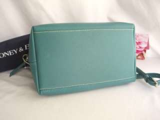 New DOONEY & BOURKE Dillen 2 Aqua Seafoam Leather Satchel Shoulder Bag