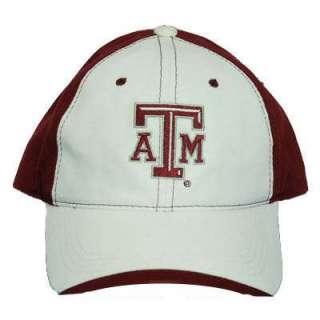 NCAA TEXAS A&M AGGIES ATM MAROON WHITE COTTON HAT CAP