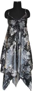 Beach Victorian Silk Dress for College Girls Cheap Punk Black