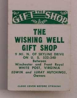 1950s Matchbook Wishing Well Gift Shop White Post VA MB