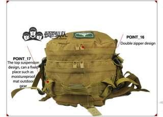Military Camping Hiking Travel transport MOLLE Bag Backpack Black