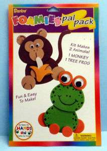 FOAM Craft KIT ~ MONKEY & TREE FROG |