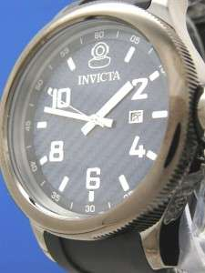 NEW Mans Invicta Russian Diver Watch  All Black/Blue Carbon Fiber