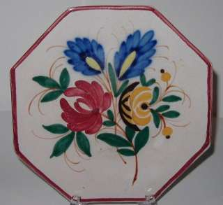 Antique 18C Hand Painted Italian Majolica Pottery Plate