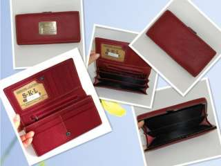 Womens Real Genuine Leather Bifold Clutch Wallet Purse ID Card