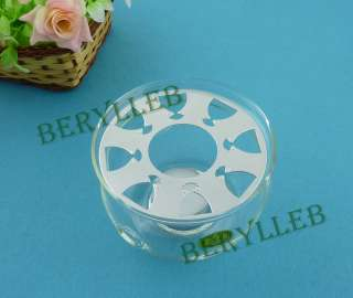 Good quality little clear glass teapot warmer