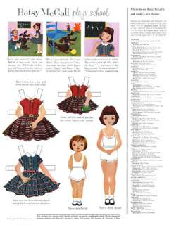 Betsy McCall Paper Doll 10 Year Collection 1951 to 1961