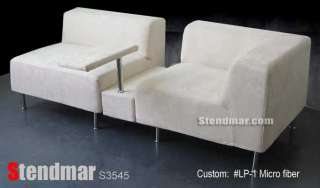 3PC Modern Italian Design Fabric Sectional Sofa S3545