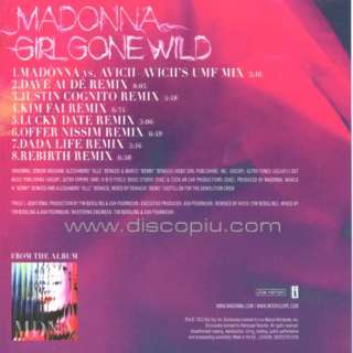MADONNA girl gone wild remixes CD maxi singolo originale NUOVO
