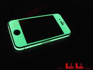GLOW IN DARK Full Body Wrap Skin Shield for iPhone 4