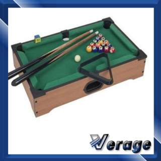 NEW MINI TABLETOP POOL SNOOKER WOODEN TABLE KIDS GAME