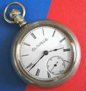 Antique ELGIN Natl. 1900s Wheeler Pocket Watch sz18