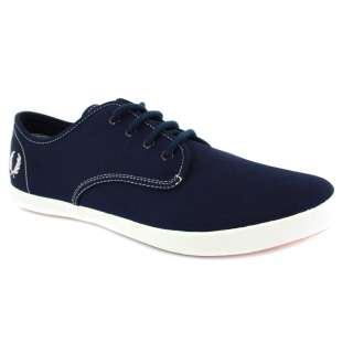Fred Perry B9020 Mens Foxx Twill Webbing Trainers 266 Carbon Blue