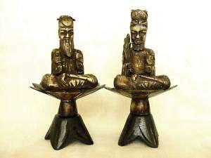 Antique Indonesian Ox Bone King & Queen Figures Statues