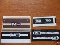 BRITAINS MASSEY FERGUSON 760 COMBINE STICKER SET
