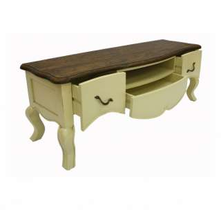 French Designer Furniture Ivory TV Cabinet Stand Designer painted