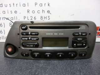 Ford Ka Cd Player Stereo 6000CD with code