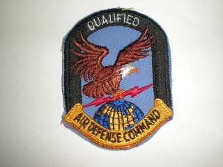 USAF AIR DEFENSE COMMAND QUALIFIED PATCH  COLOR