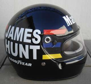 JAMES HUNT 1976    Excelent Replica Helmet    Full Size 11 Scale